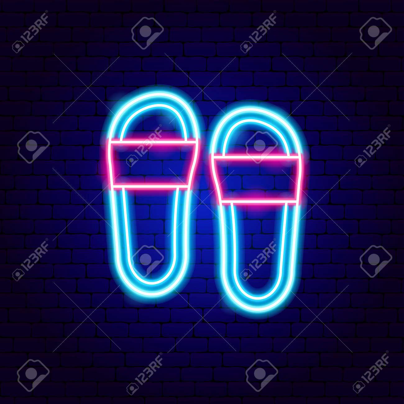 Flip Flops Neon Sign - 168963058
