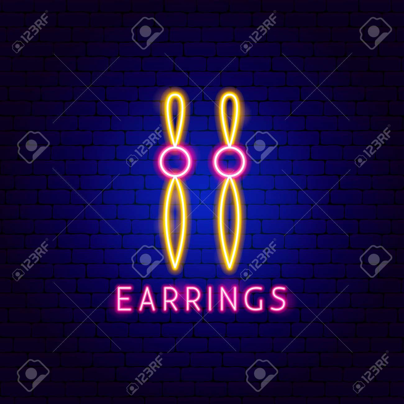 Earrings Neon Label - 168963115