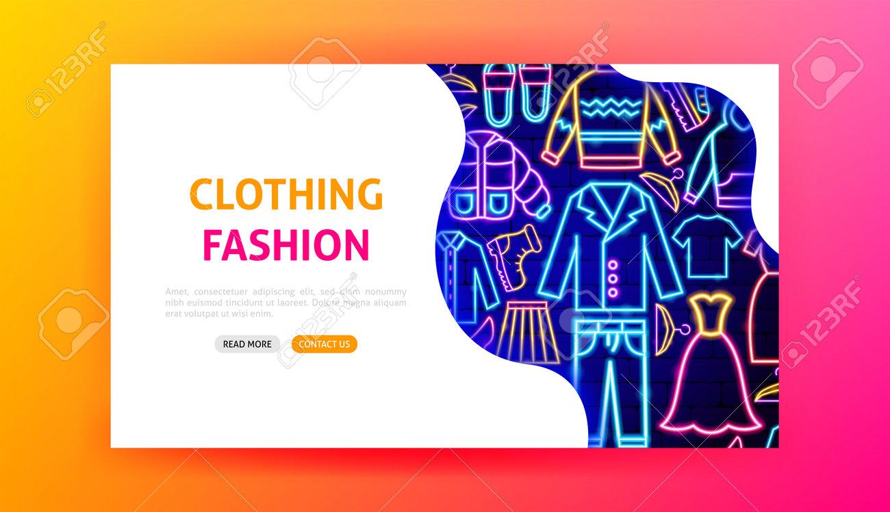 Clothing Fashion Neon Landing Page - 168963070