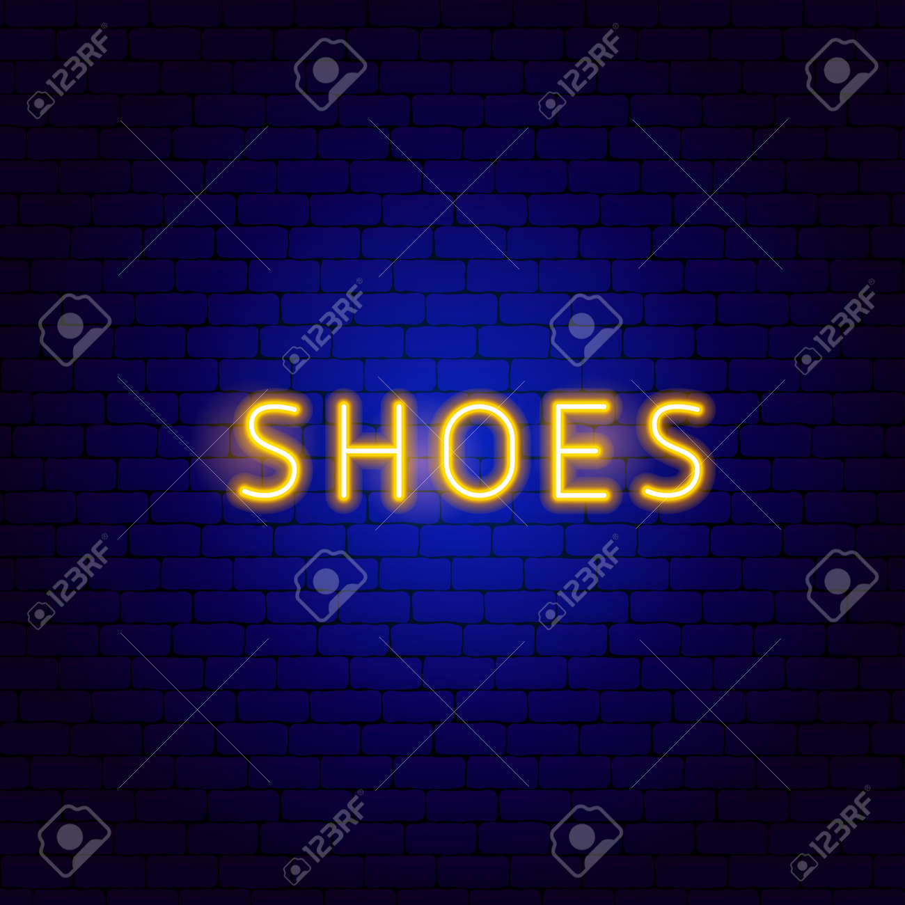 Shoes Neon Text - 168963149