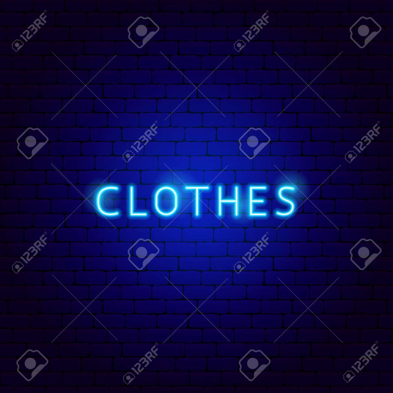 Clothes Neon Text - 168963181