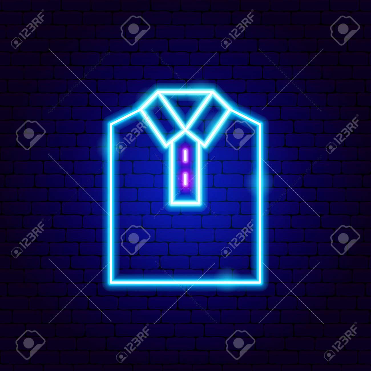 Shirt Collar Neon Sign - 168963318