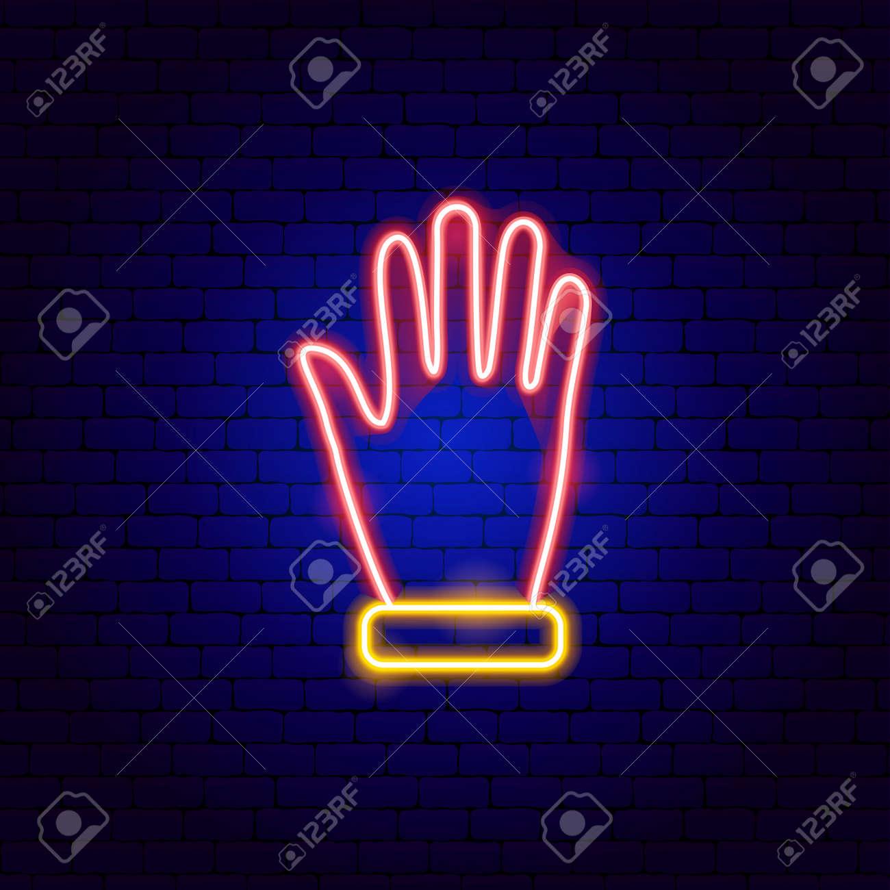 Glove Neon Sign - 168963330
