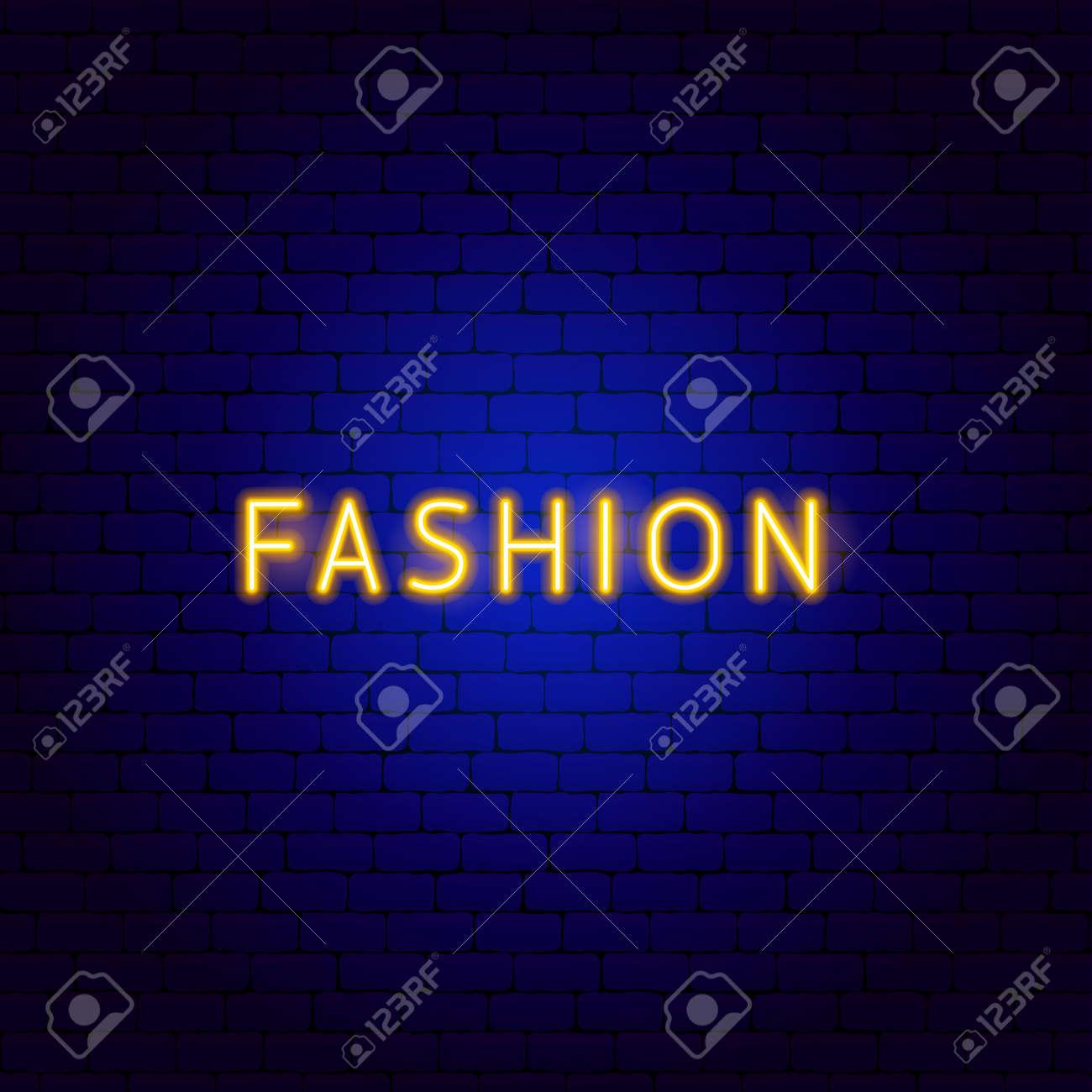 Fashion Neon Text - 168963331