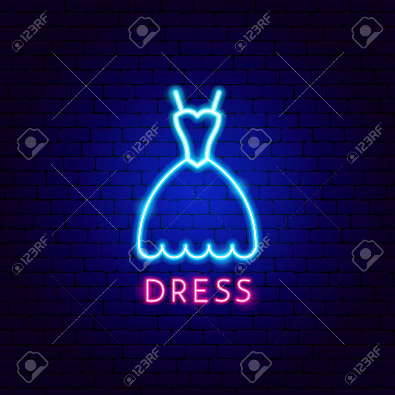 Dress Neon Label - 168963333