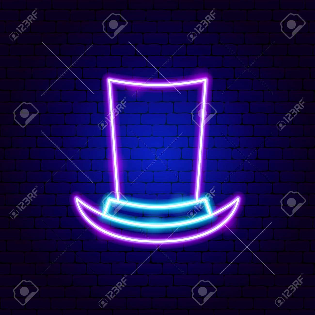Cylinder Hat Neon Sign - 168963334