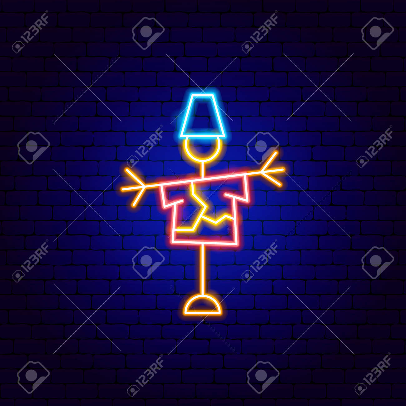 Scarecrow Neon Sign - 169264469