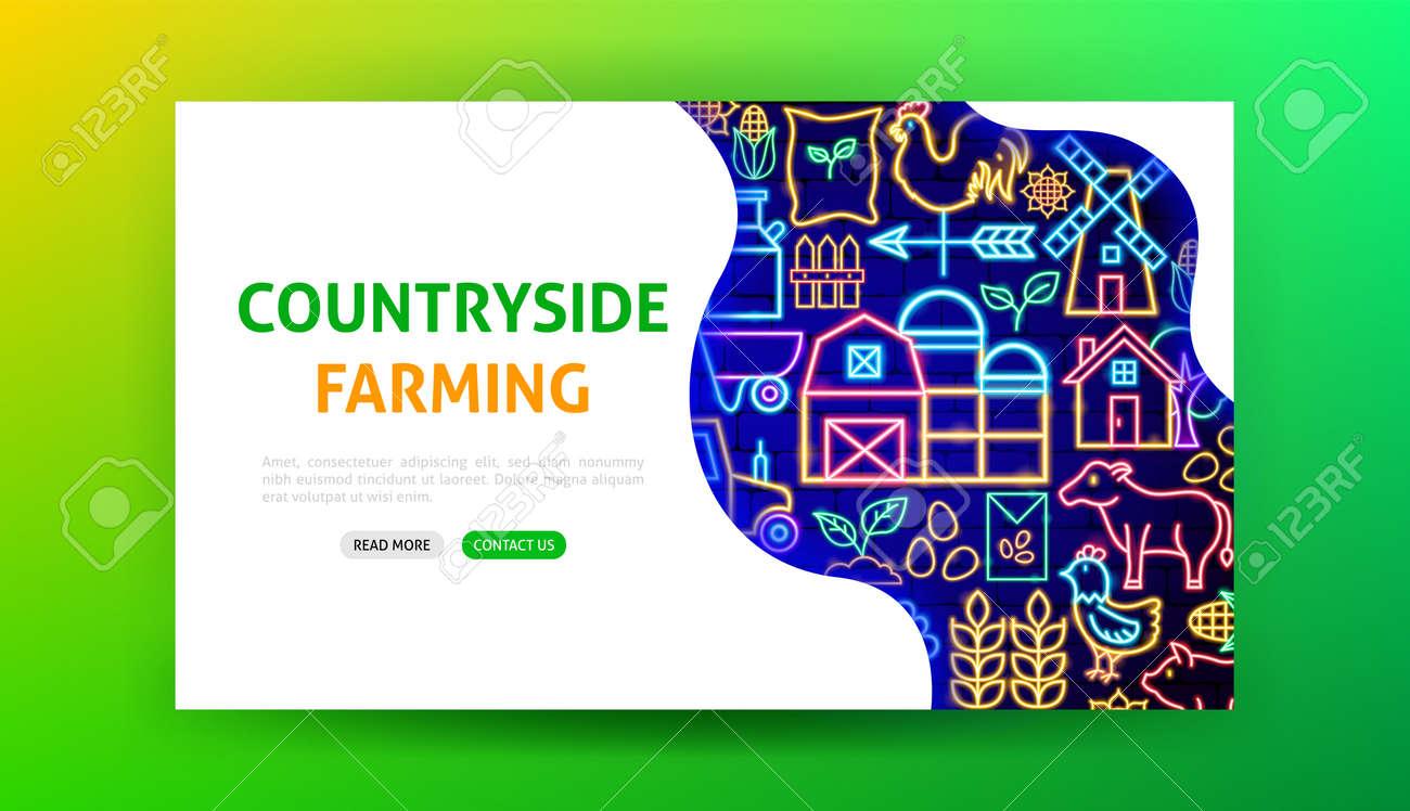 Farming Neon Landing Page - 169264482