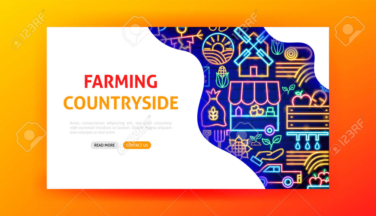 Countryside Neon Landing Page - 169264529