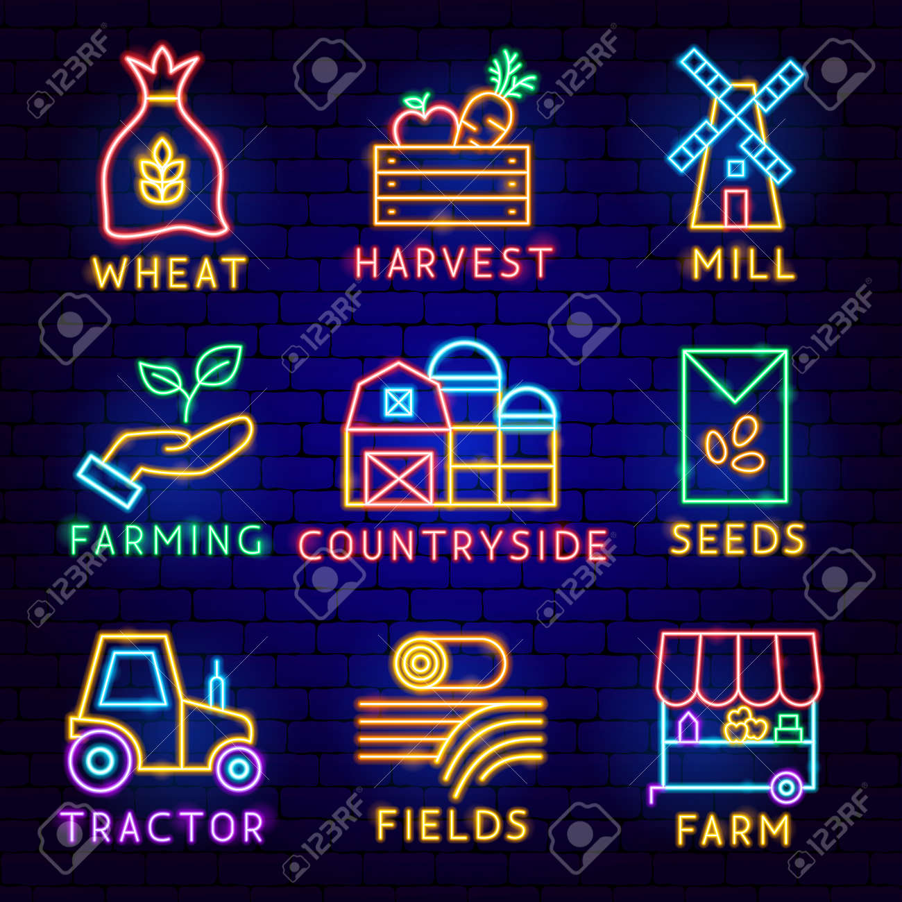 Countryside Label Set - 169264535