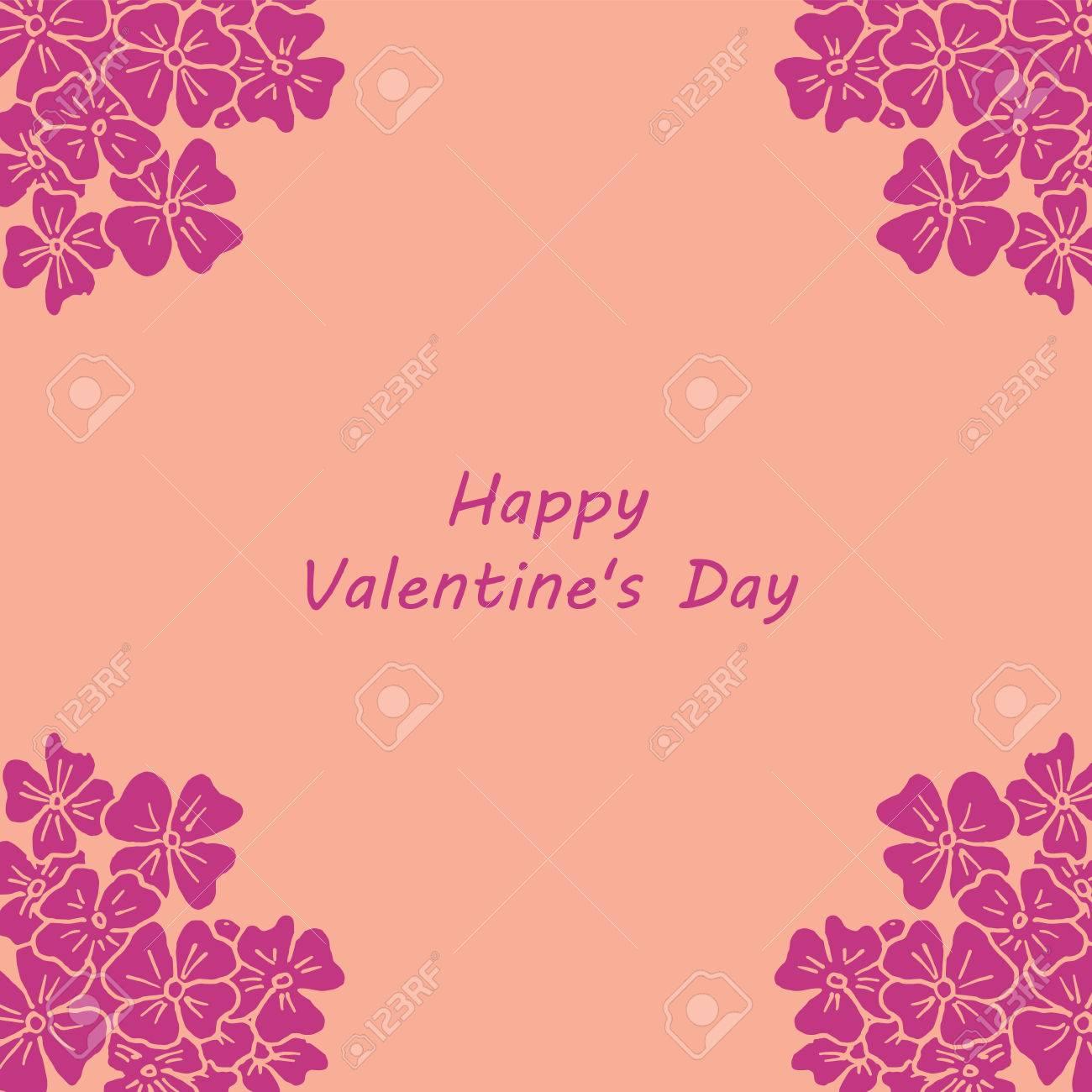 14 De Febrero - Feliz Tarjeta Del Día De San Valentín. Ilustraciones ...