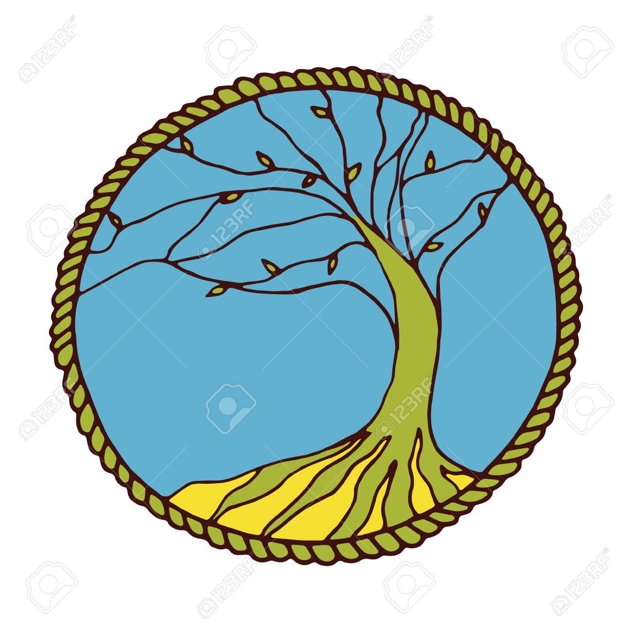 tree of life in vector poster on white background royalty free