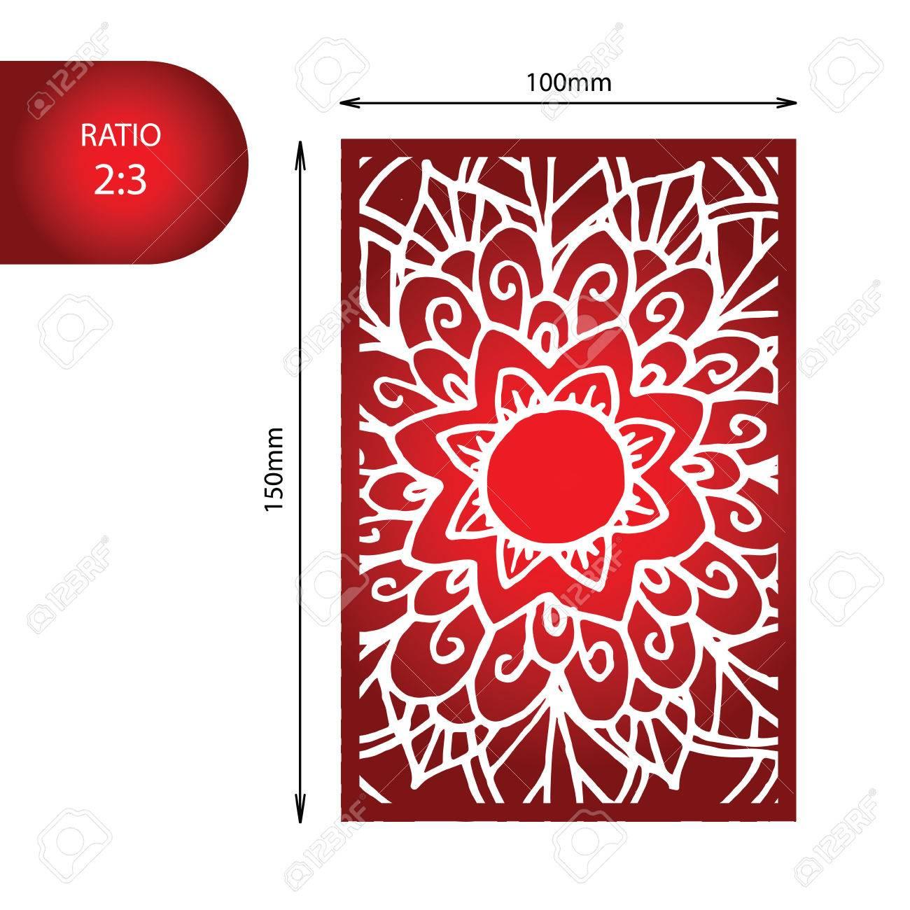 Flower Mandala Wedding Invitation - Hand Drawn Zentangle Pattern ...