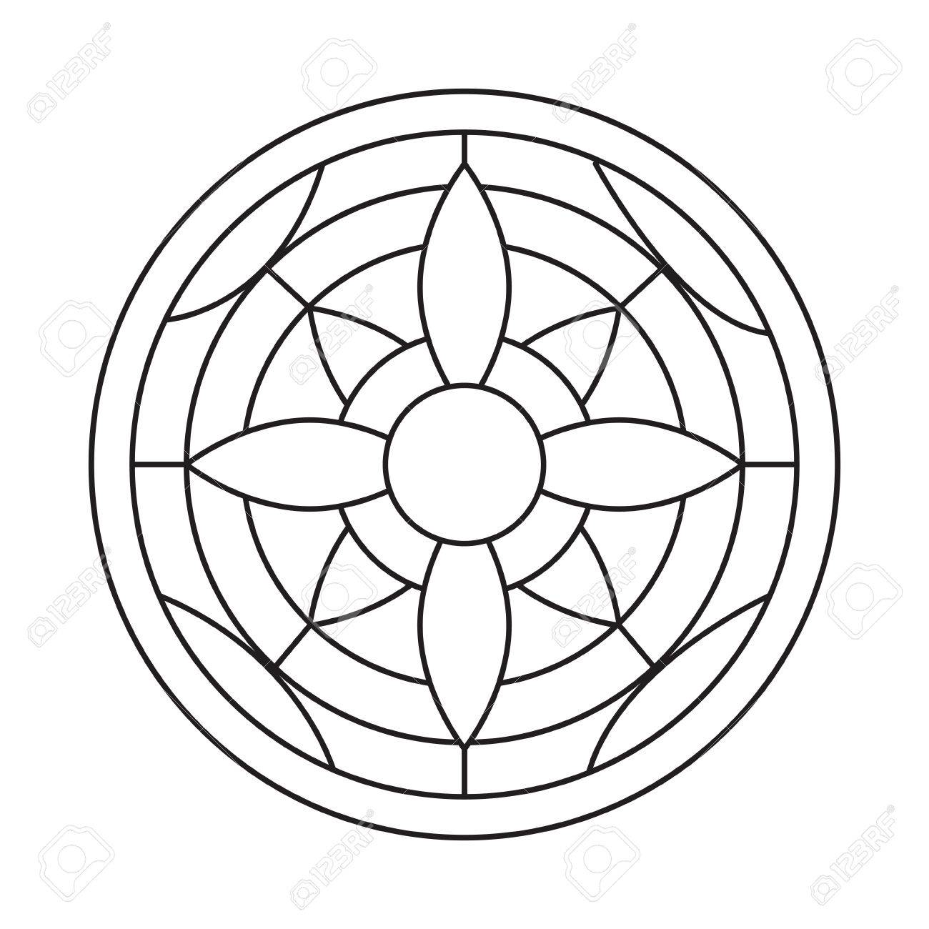 Mandala For Coloring Book And Adults. Made By Trace From Personal ...