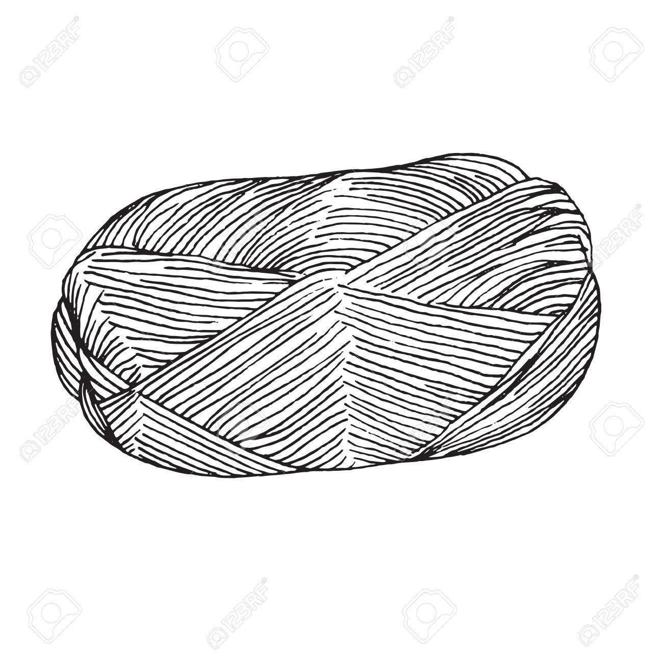 Bola De Hilo - Dibujado A Mano Ilustración. Perfeccione Para La ...