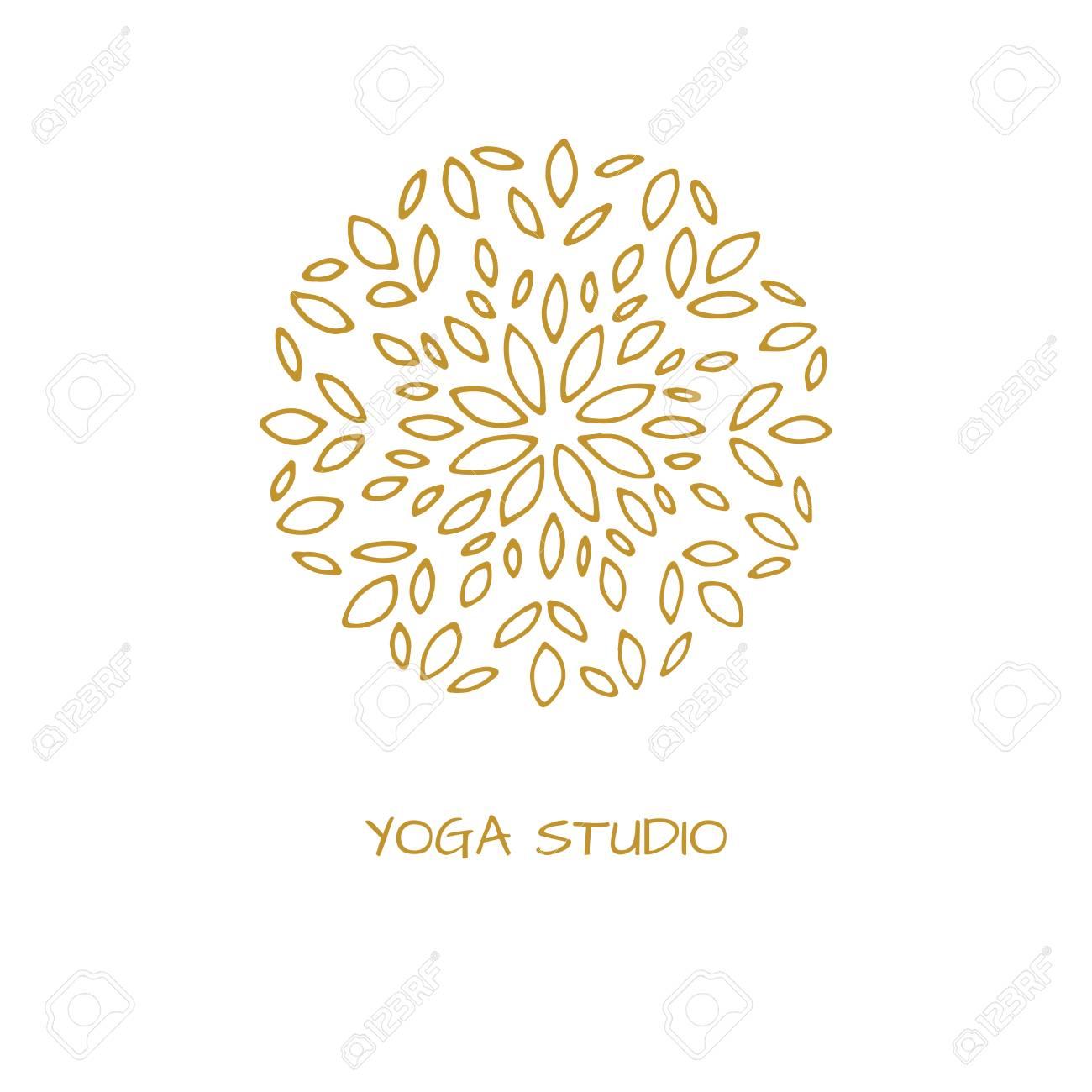 Logotipo En Estilo árabe Para Estudio De Yoga, Centro Holístico Y ...