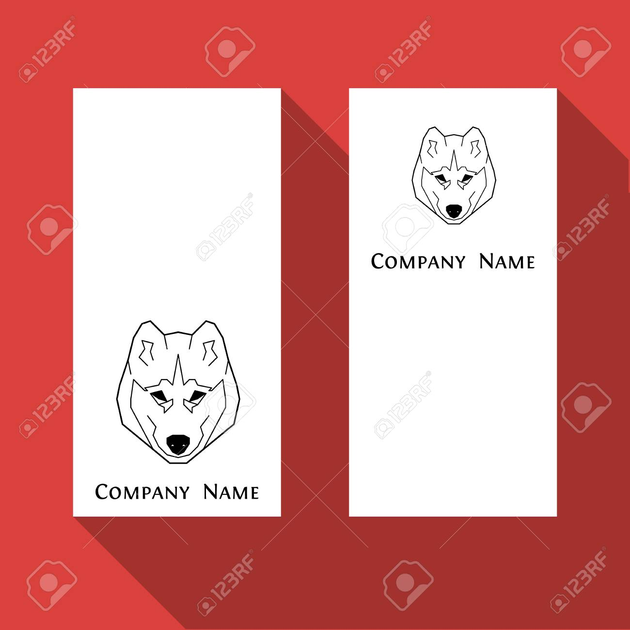 Husky Dog Business Card In Geometric Modern Style. Royalty Free ...