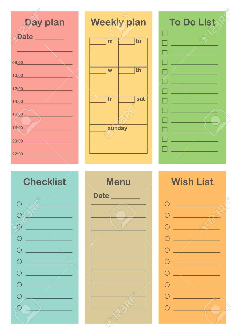 Office Schedule Template from previews.123rf.com