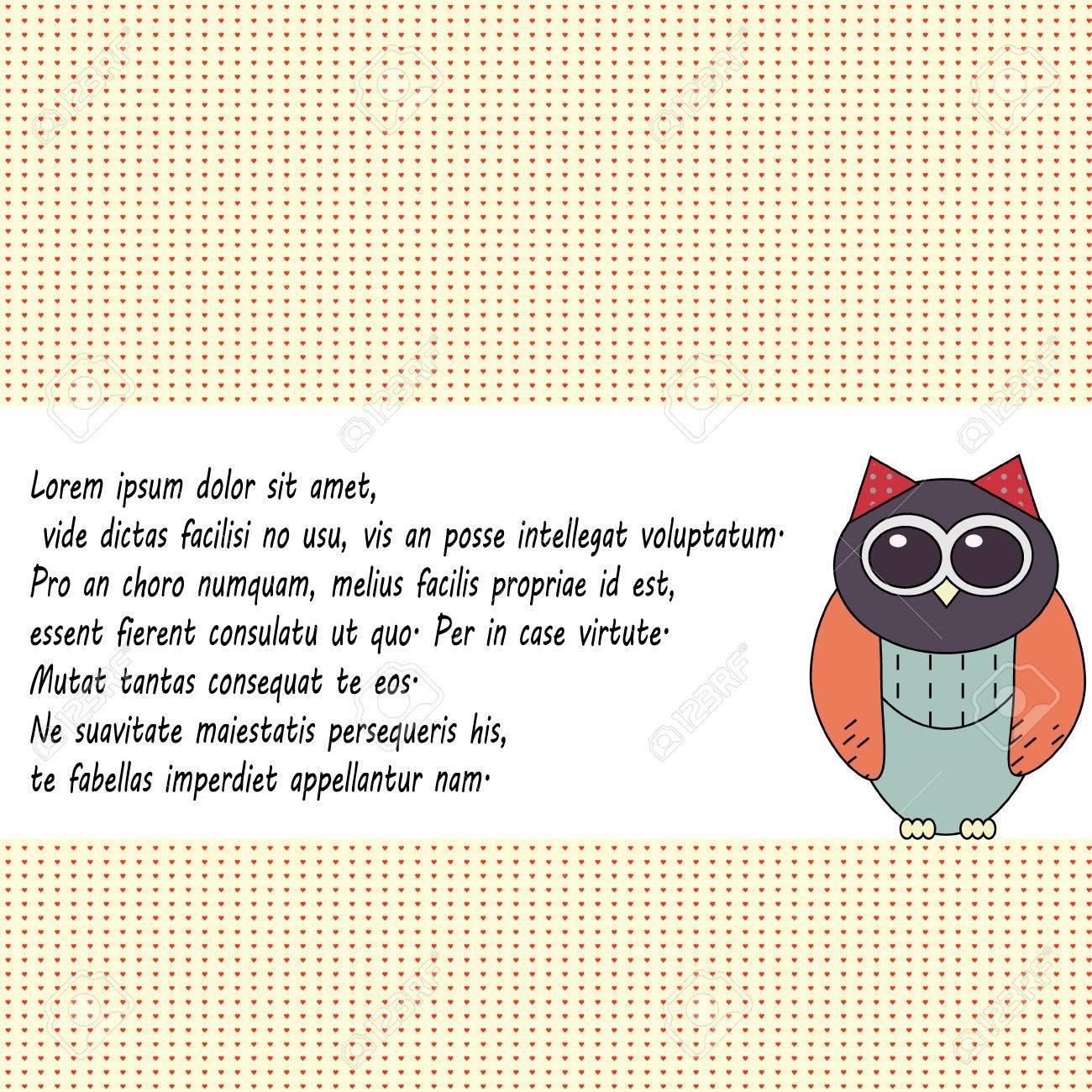 Owl invitation card template colorful background greeting card owl invitation card template colorful background greeting card stock vector 78140282 stopboris Choice Image