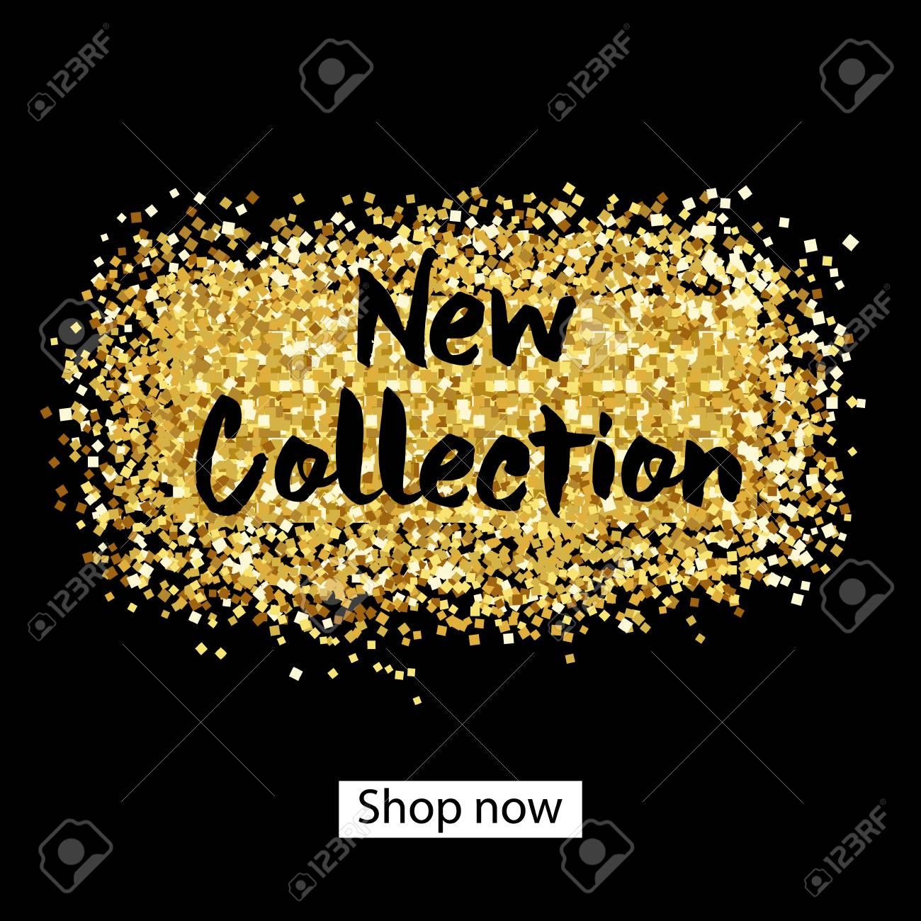 Nueva Colección. Pintura De Oro - Pinceladas De Brillo Para El Fondo ...