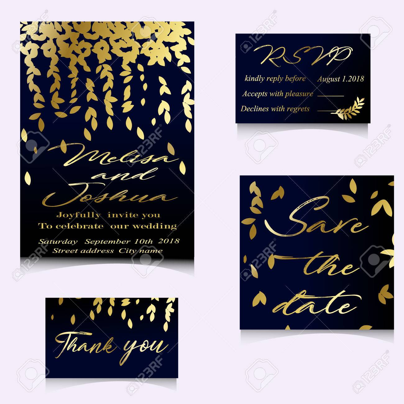 Golden vector invitation with handmade floral elements modern banco de imagens golden vector invitation with handmade floral elements modern wedding collection gold a premium invitation to the feast stopboris Image collections