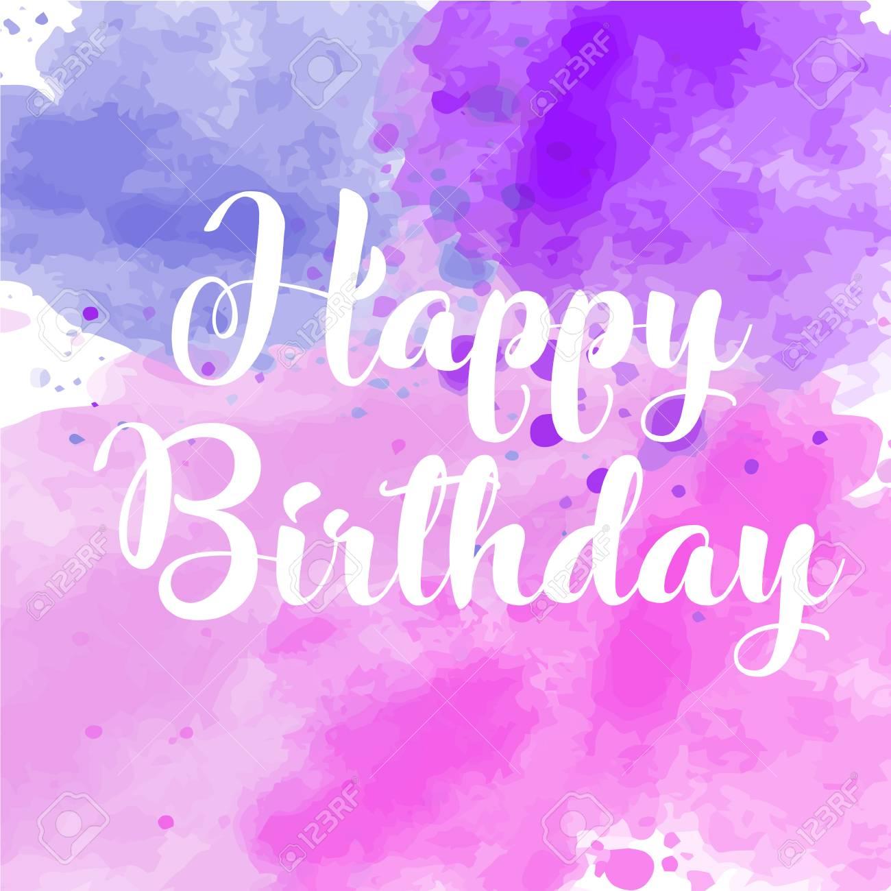 Vector hand painted watercolor happy birthday greeting card royalty vector vector hand painted watercolor happy birthday greeting card m4hsunfo