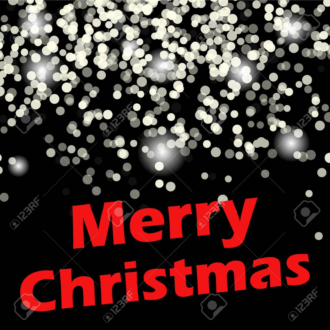 Merry Christmas Message And Light Background. Royalty Free Cliparts ...