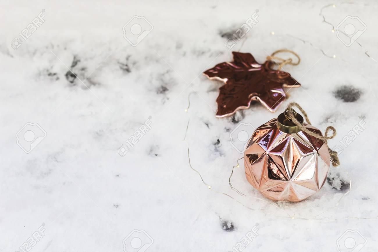 Winter Christmas Wallpaper Rose Gold