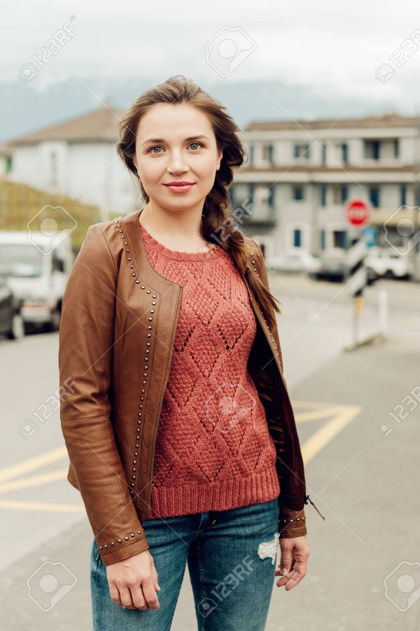 Fashion Portrait Of Beautiful Young 25 30 Year Old Woman With Stock Photo Picture And Royalty Free Image Image 118985391