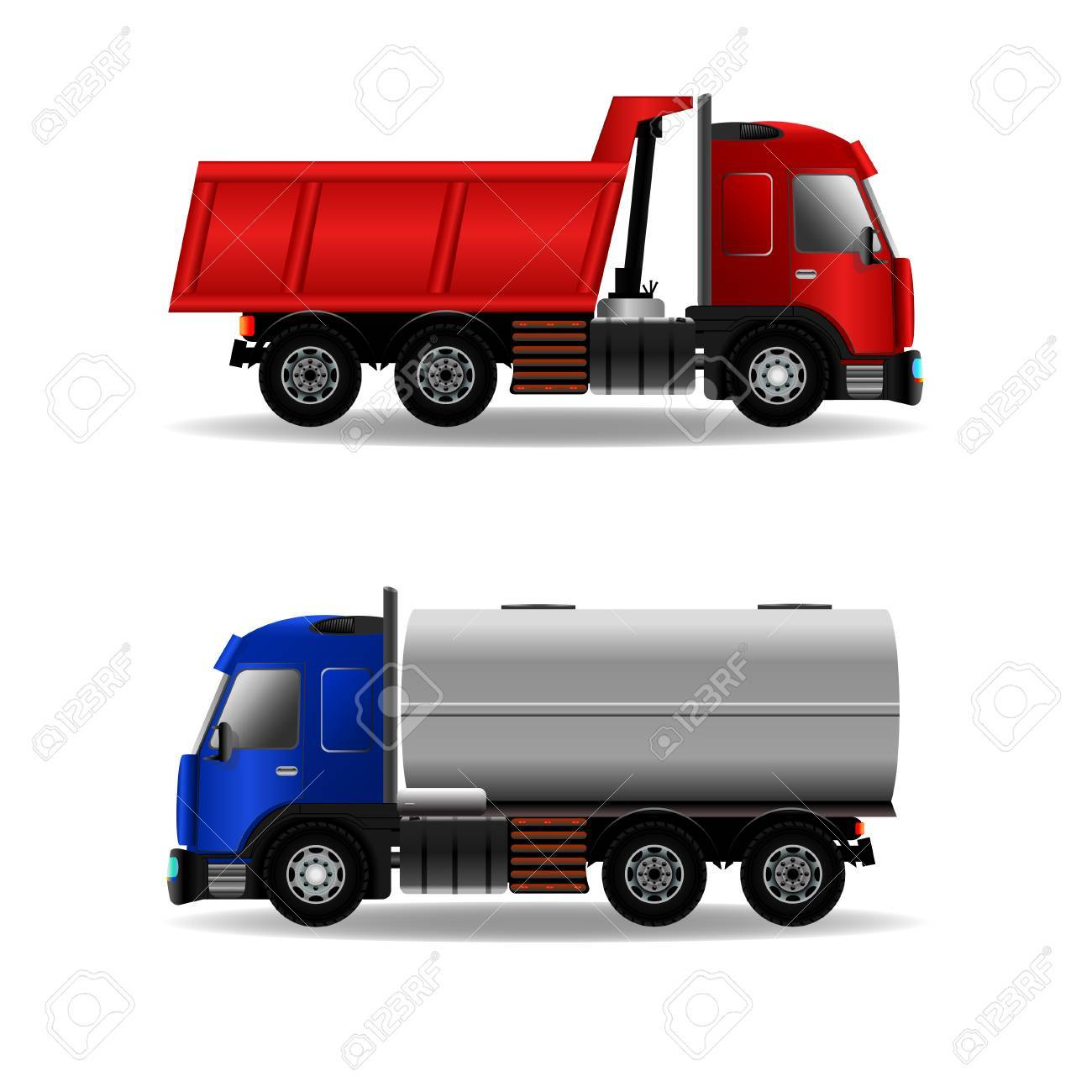 248 Flatbed Truck Stock Vector Illustration And Royalty Free ...