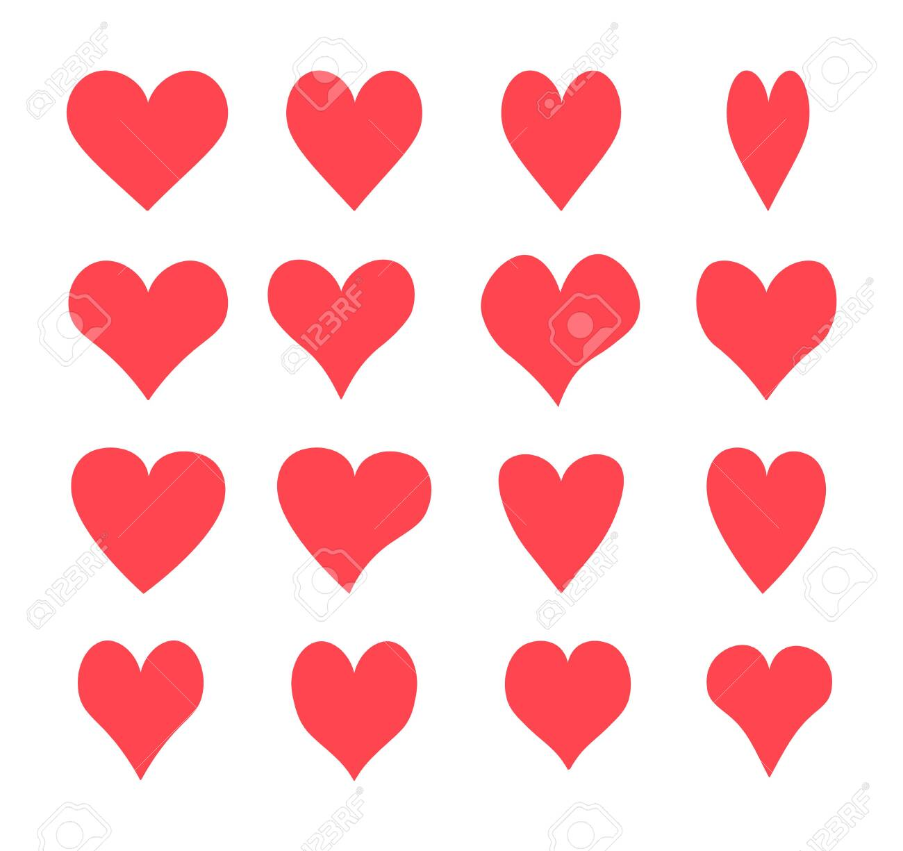 A set of hearts, Vector icons - 134268327