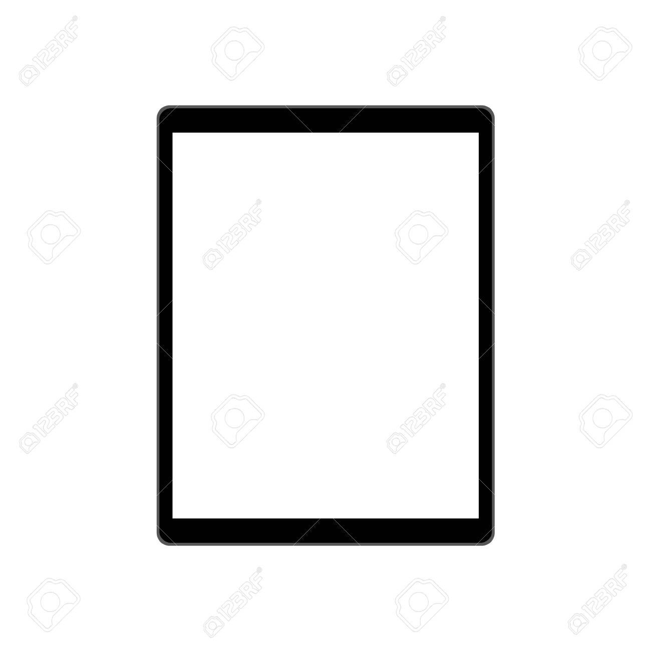 Mockup modern tablet, vector technological device - 135728118