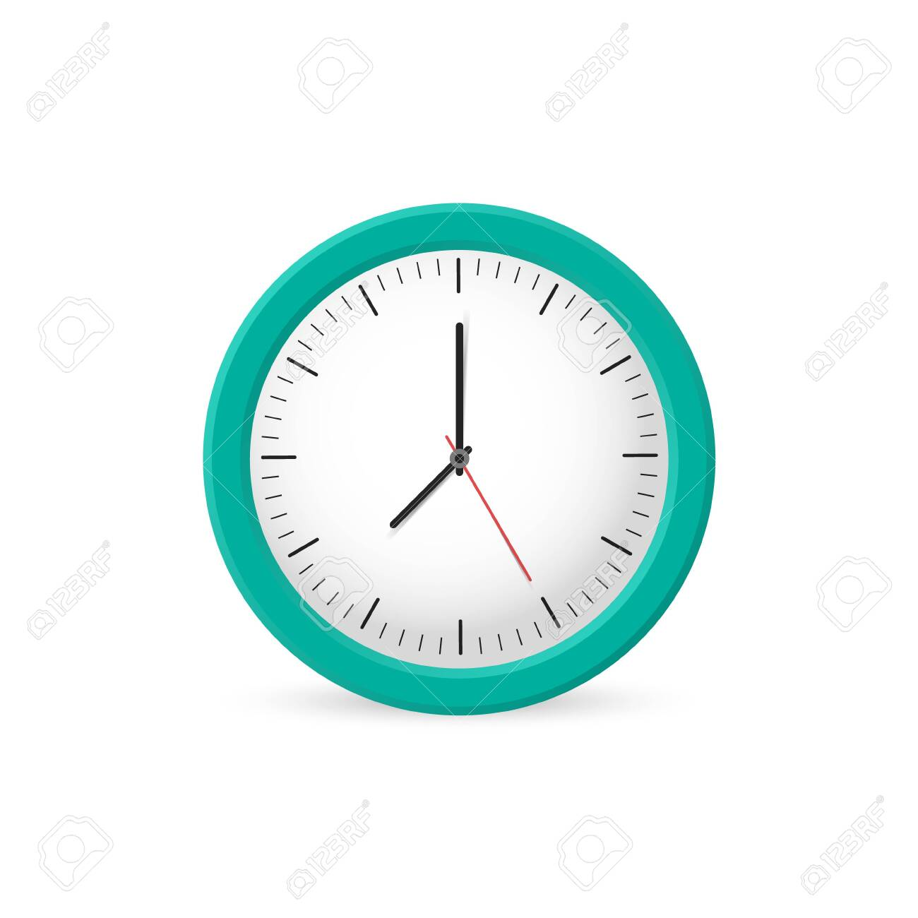 Clock wall on the white background, time. Vector illustration - 146832891