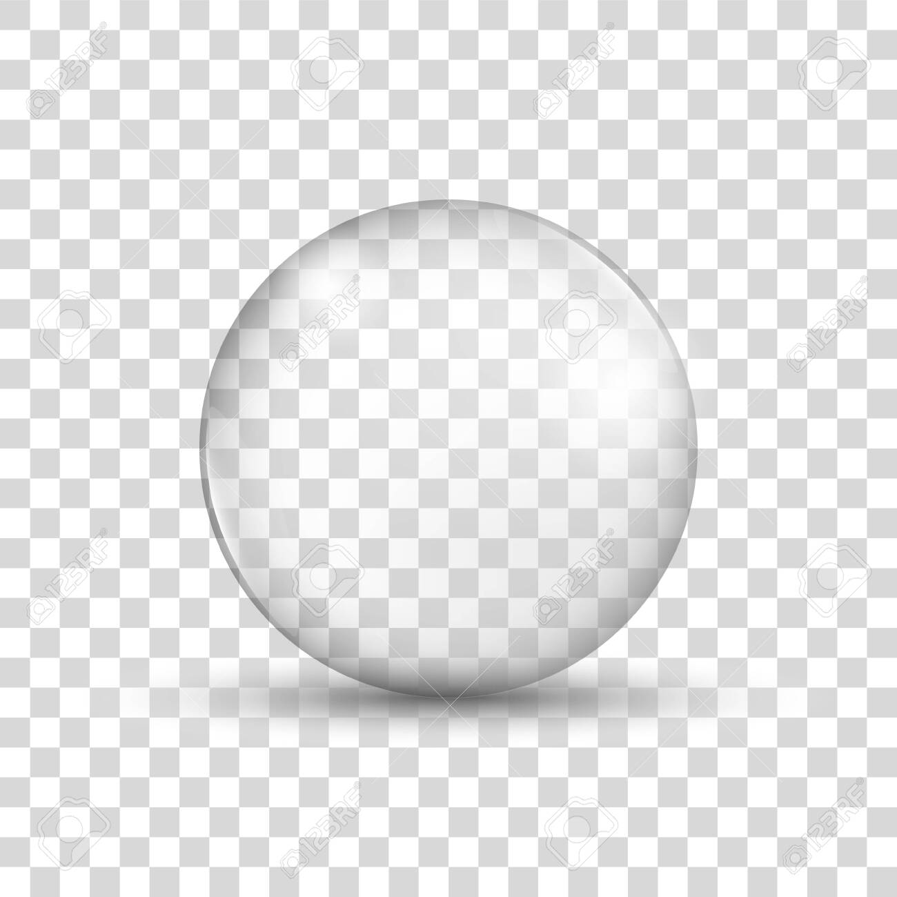 Glass sphere. Realistic water bubble. Soap bubble. Vector - 148073823