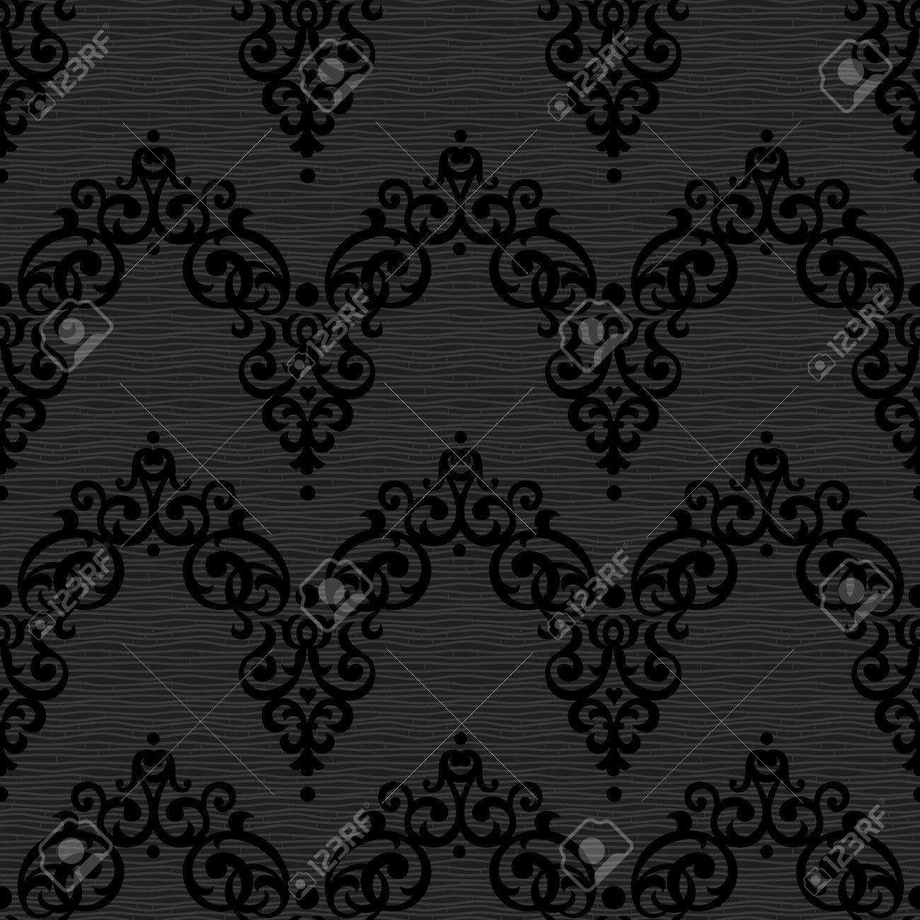 Vector Seamless Pattern In Victorian Style Element For Design