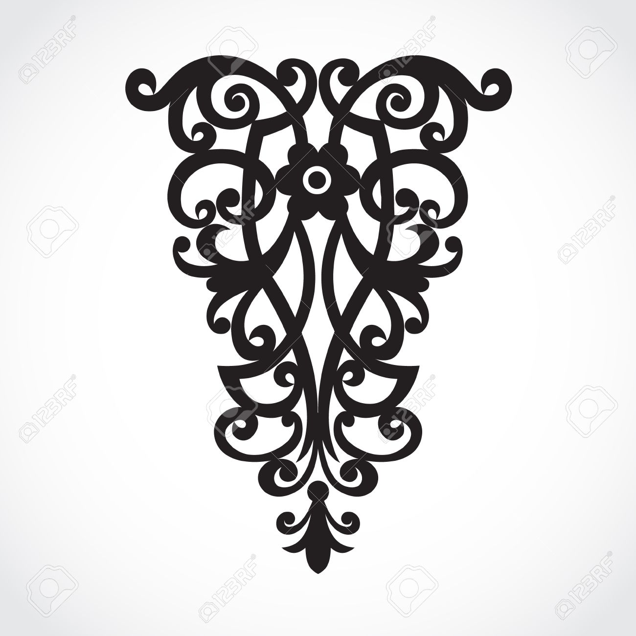 vector vector baroque ornament in victorian style ornate element for design toolkit for designer blue ornamental pattern for wedding invitations and