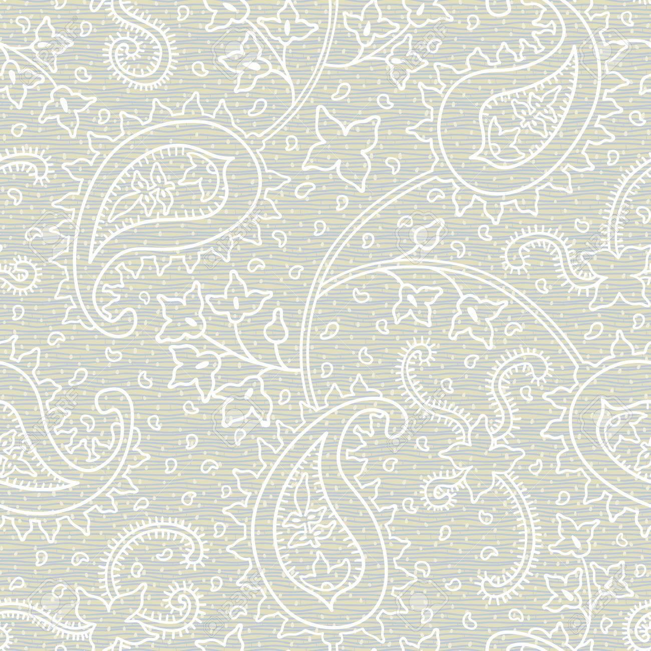 Adornado Textura Floral Transparente. Patrón Sin Fin Grey. Fondo De ...