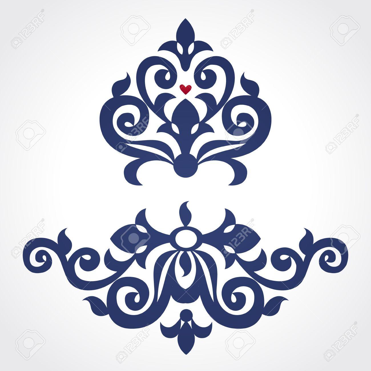 Vector Barocke Ornament Im Viktorianischen Stil. Verziert Element ...