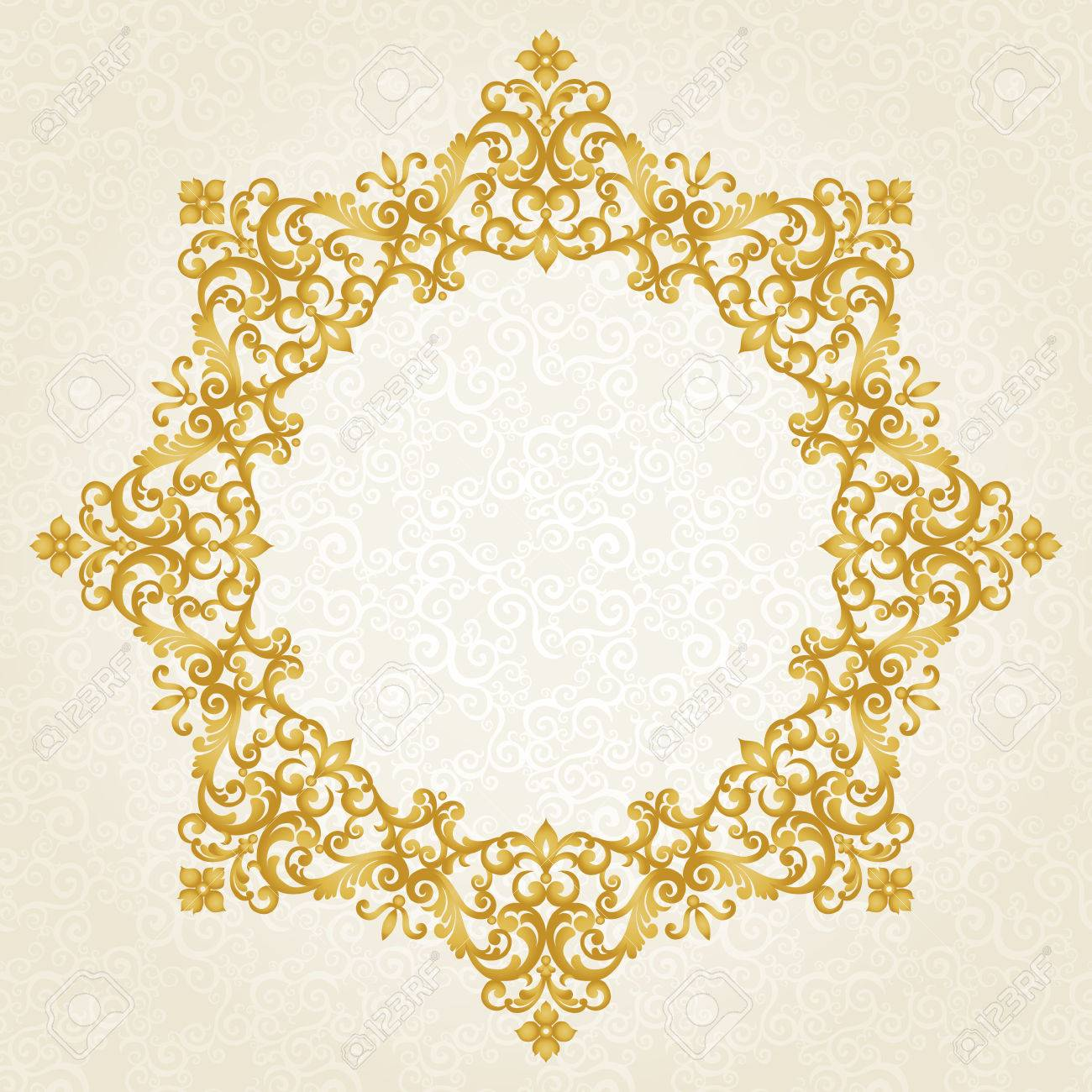 Vector ornate frame in victorian style decorative element for vector ornate frame in victorian style decorative element for design and place for text junglespirit Image collections