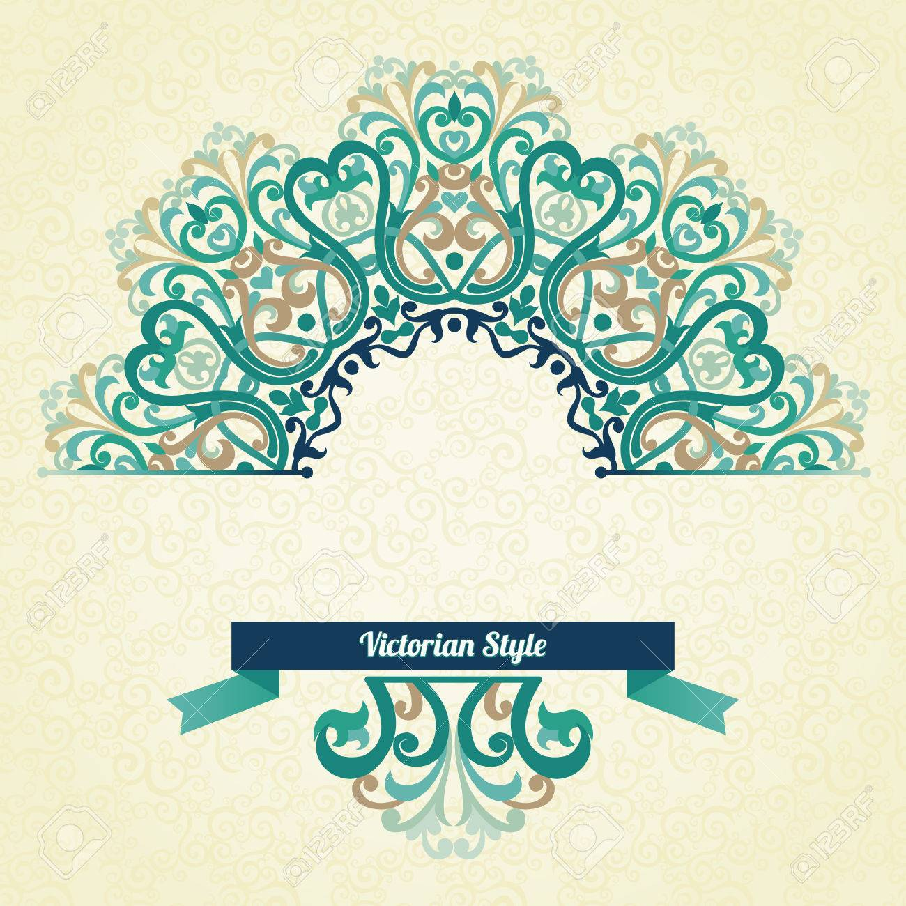 Vector ornate pattern in victorian style decorative element vector vector ornate pattern in victorian style decorative element for design and place for text ornamental lace pattern for wedding invitations and junglespirit Choice Image