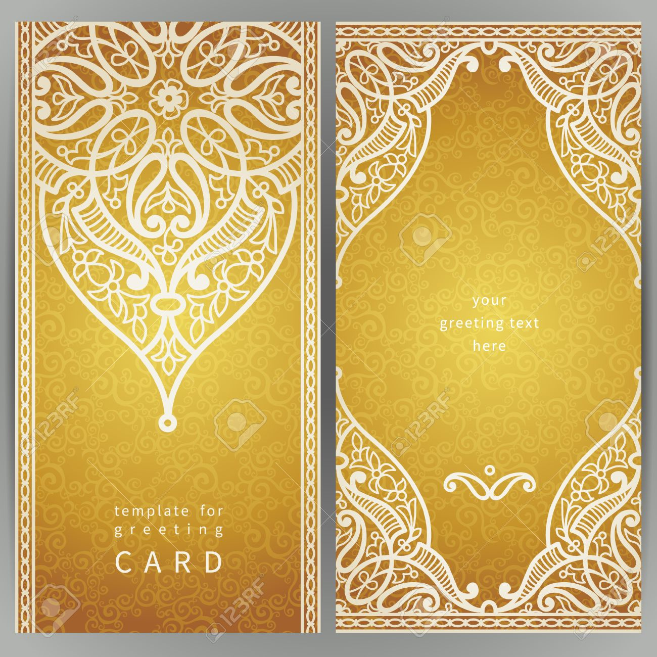 dimages cartes ornes vintage dans le style oriental or dcoration florale orientale cadre modle pour carte de voeux et invitation de mariage - Carte D Invitation Mariage Oriental