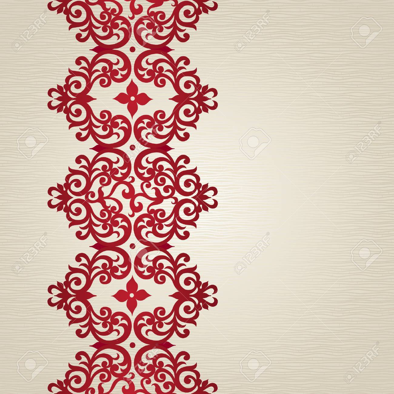 Vector Seamless Border In Victorian Style. Element For Design. Place ...