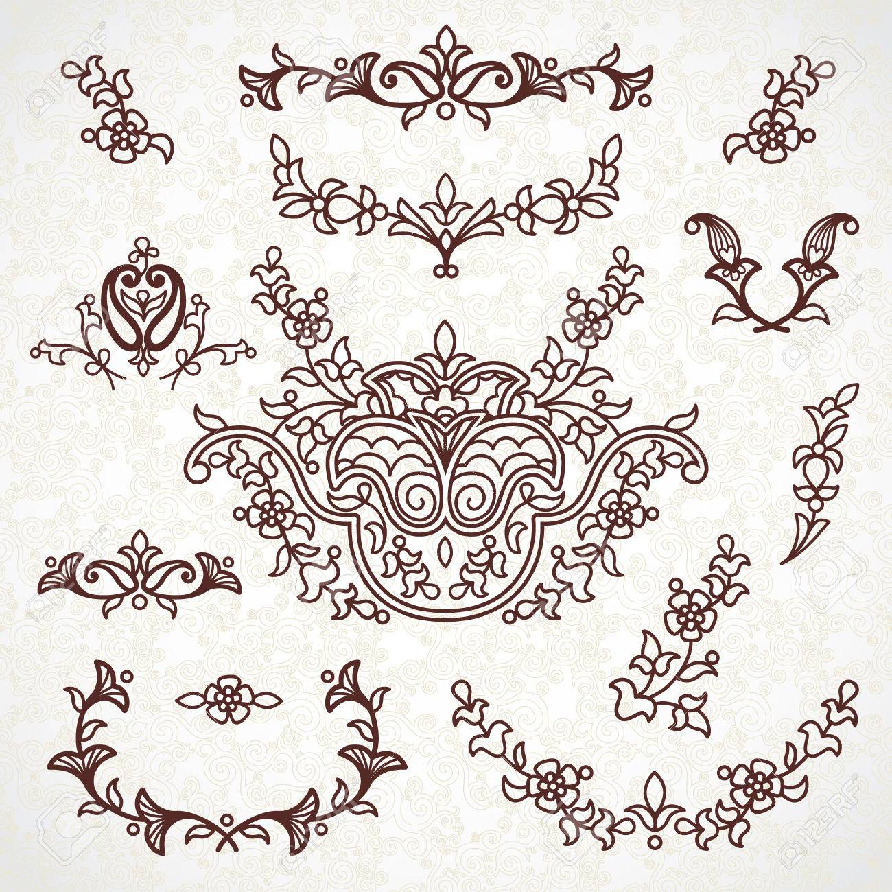 Ornamental Lace Patterns For Wedding Invitations And Greeting ...