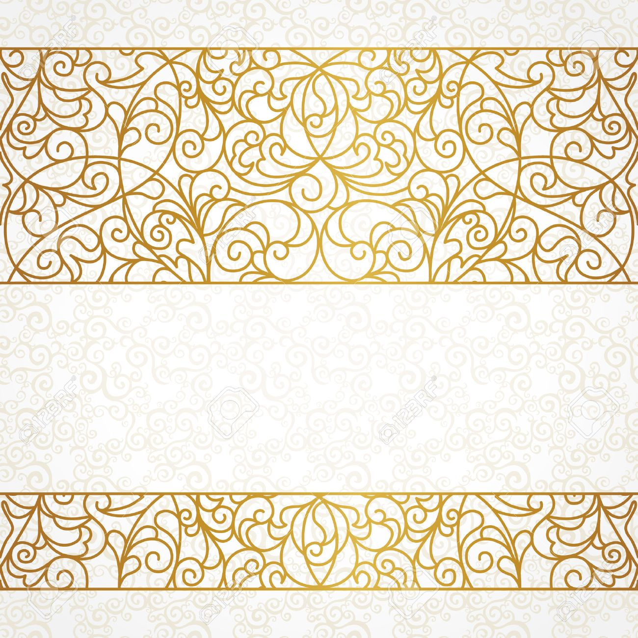 Line Art Element For Design Place Text Ornamental Vintage Frame Wedding Invitations And Greeting Cards Traditional Gold Decor