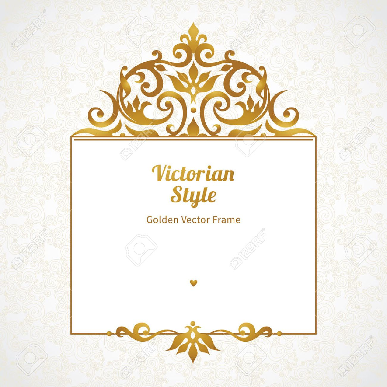Vector Decorative Frame In Victorian Style. Elegant Element For ...