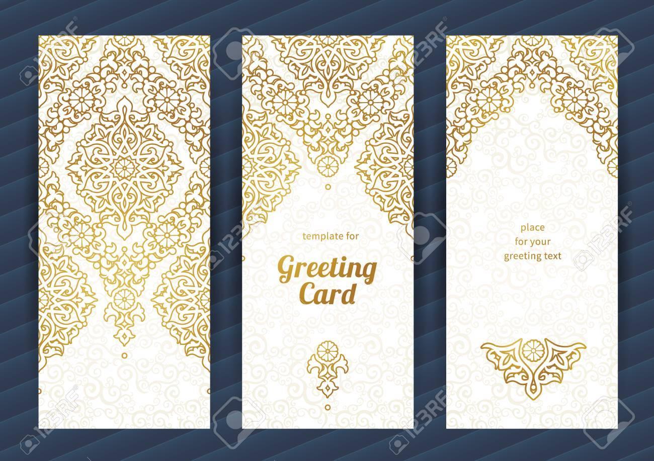 Lese Aufwändiges Karten Im Orientalischen Stil. Goldene Eastern ...