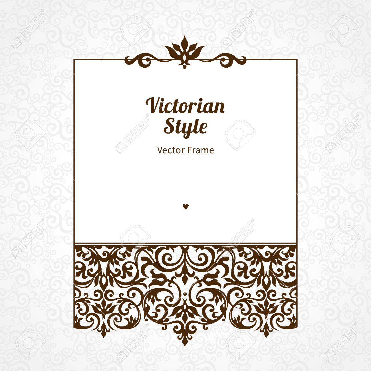 Vektor Zierrahmen Im Viktorianischen Stil. Elegante Element Für ...