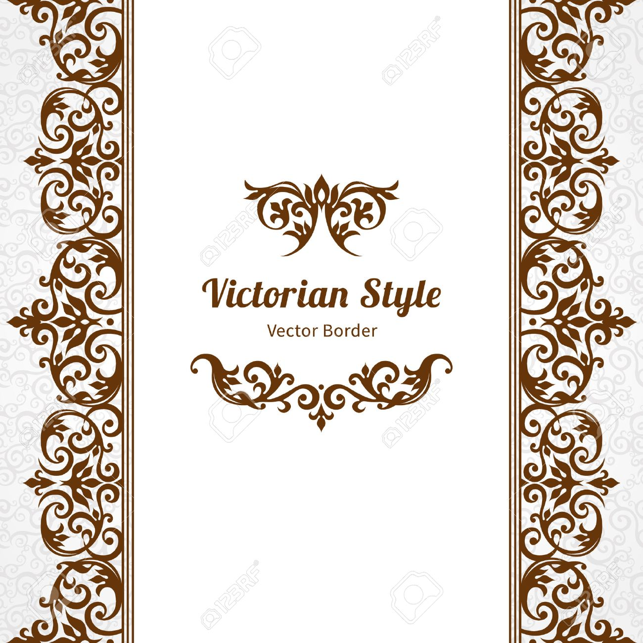 Vector ornate seamless border in victorian style gorgeous element vector vector ornate seamless border in victorian style gorgeous element for design place for text ornamental vintage pattern for wedding invitations stopboris Choice Image