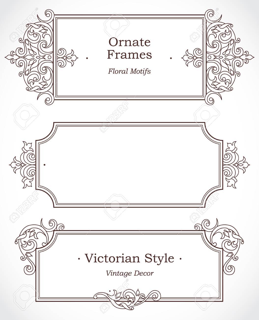 Vector Marco Decorativo En Estilo Victoriano. Elegante Elemento De ...