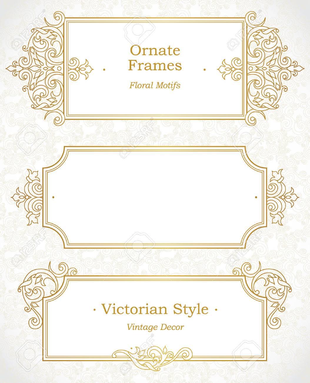 Vector Marco Decorativo En Estilo Victoriano. Elemento De Plantilla ...
